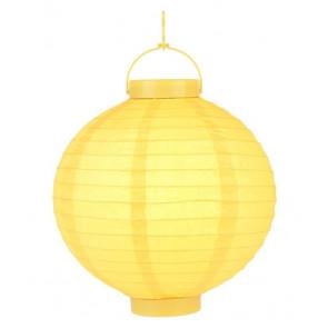 Világító lampionok LED 20cm – sárga