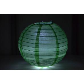 Papír lampion LED 30cm zöld