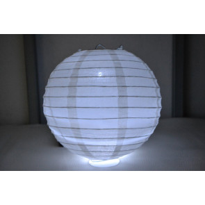 Papír lampion LED 20cm fehér
