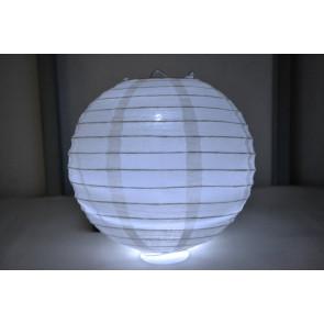 Papír lampion LED 40cm fehér