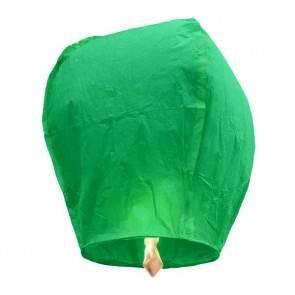 Zöld repülő lampion ECO jókívánság lámpás, Kívánság lampion