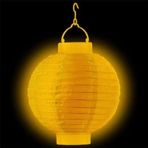 Világító lampionok LED 20cm sárga