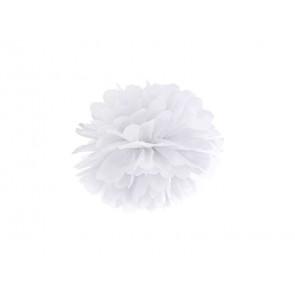 Selyempapír pompom 20cm, fehér