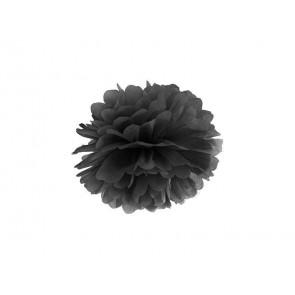 Selyempapír pompom 20cm, fekete