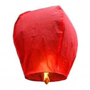 Piros repülő lampion ECO jókívánság lámpás, Kívánság lampion