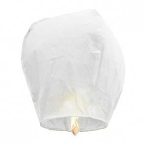 Fehér repülő lampion STANDARD jókívánság lámpás, Kívánság lampion