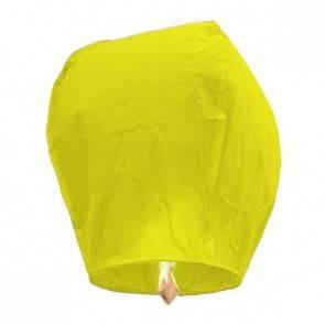 Sárga repülő lampion ECO jókívánság lámpás, Kívánság lampion